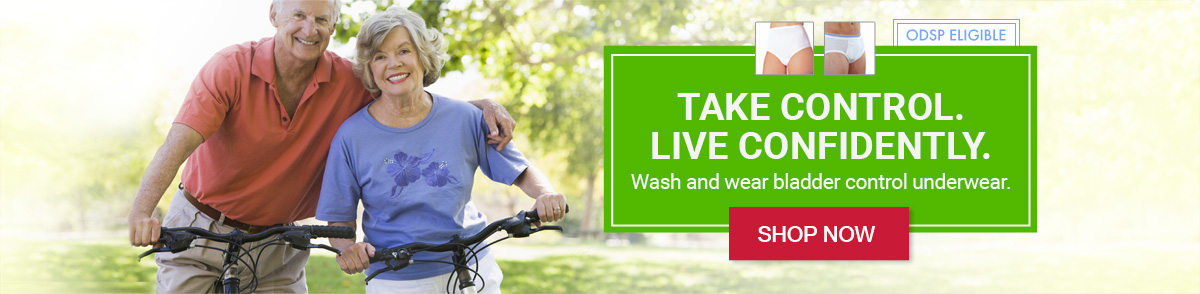 Take control. Live confidently with wash and wear bladder control underwear
