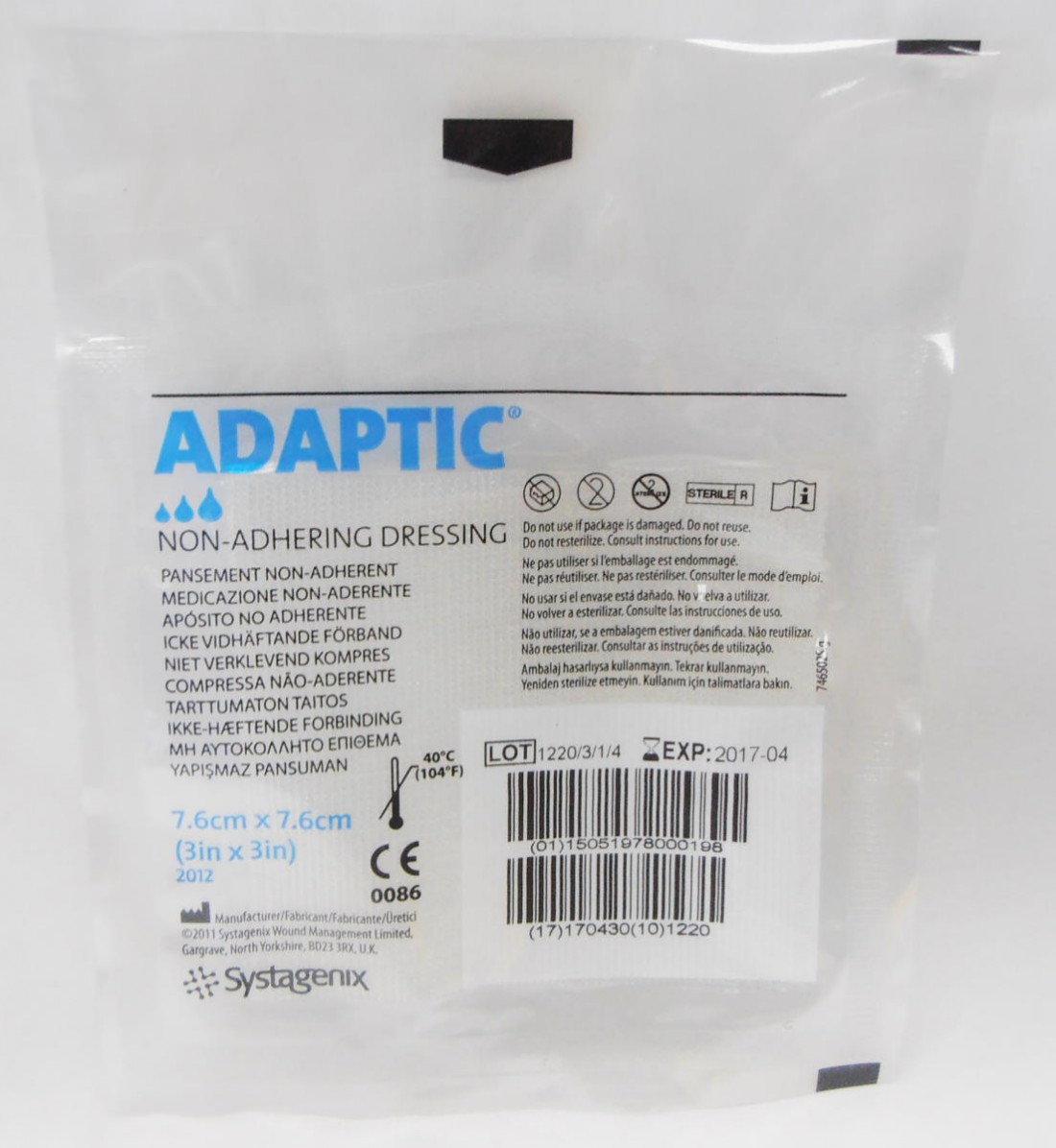 Adaptictouch Non Adhering Dressing 7 5 X 7 5 Cm Wound Care