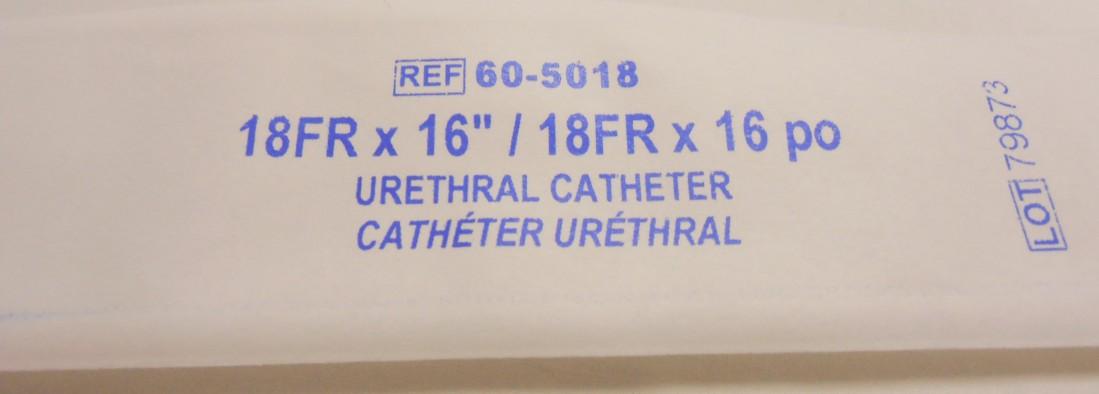 Male Urethral Catheter, 18FR 16