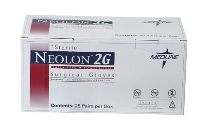 Neolon 2G Powder-Free Surgical Gloves, Size 6.5