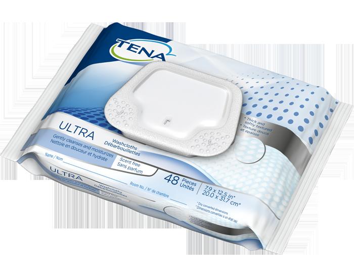 TENA® Ultra Washcloths, Scent Free