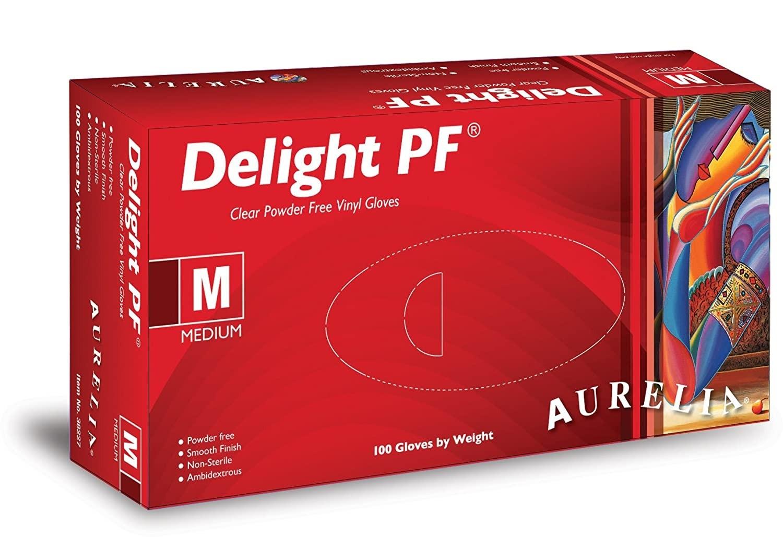 Aurelia Delight, Powder-Free Vinyl Examination Gloves