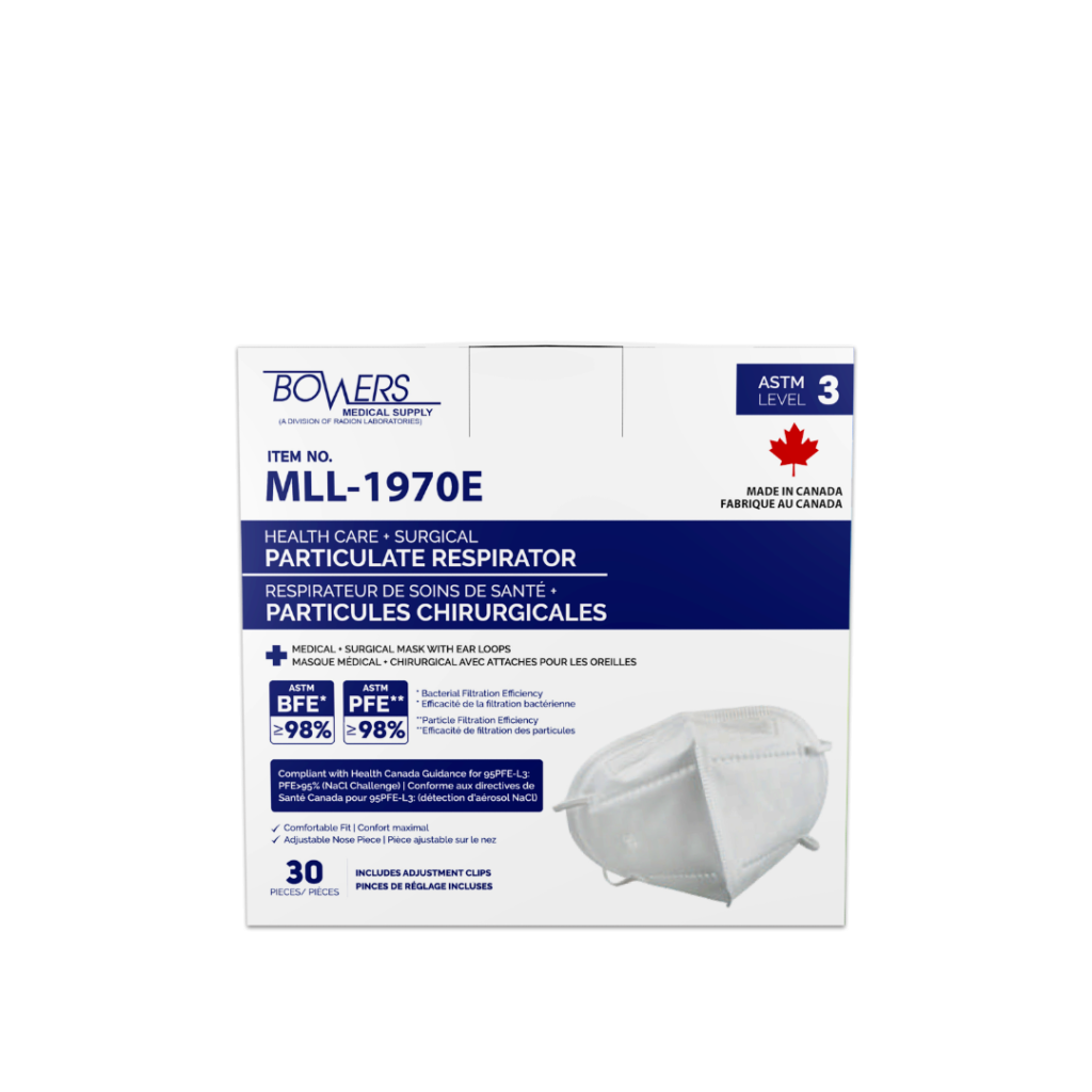 95PFE Particulate Mask Respirators, MLL-1970E (Box of 30) MADE IN CANADA!