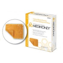 MEDIHONEY CALCIUM ALGINATE DRESSING 5CMX5CM STERILE
