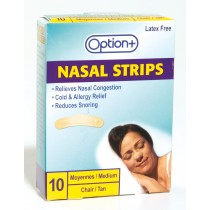 OPTION+ NASAL STRIPS 10 MEDIUM