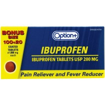 OPTION+  IBUPROFEN 200MG