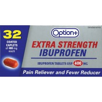 OPTION+ EXTRA STRENGTH IBUPROFEN 400MG