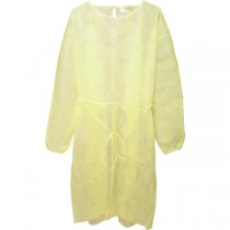 DISPOSABLE ISOLATION GOWN, YELLOW