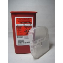 Phlebotomy Sharps Container, Red, 1L