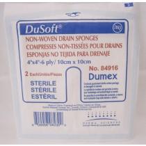 DuSoft® Trach / Drain Sponge, 10 x 10cm, 2/Pk