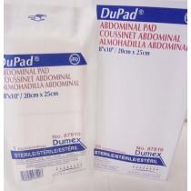 """Dupad Abdominal Pad, Sterile, 8"""" W x 10"""" L"""