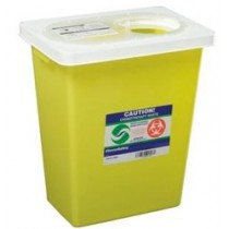 Bio-Hazardous Sharps Container, Waste Slide Lid, 8L