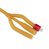 "3-Way Silicone Foley Catheter, 22FR, 5cc, 16"""