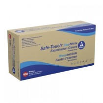 Safe-Touch Blue Nitrile Exam Gloves-Medium