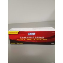 OPTION+ ANALGESIC CREAM ODORLESS EXTRA STRENGTH 100G