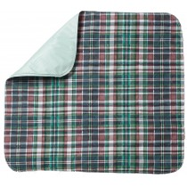 Quilted Plaid Reusable Underpad - Discreetly protect your bed or furniture!