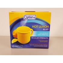 OPTION+ HOT LEMON COLD&FLU REGULAR STRENGTH