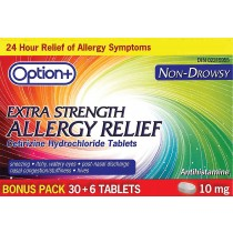 OPTION+ ALLERGY TABLET 10MG 30+6