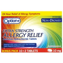 OPTION+ ALLERGY TABLET 10MG 10+2