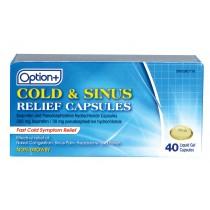 OPTION+  COLD & SINUS GEL CAPS 40