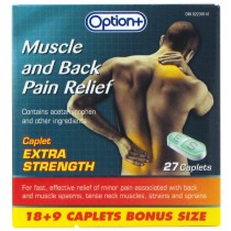 OPTION+ MUSCLE & BACK EXTRA STRENGTH RELIEF 18+9