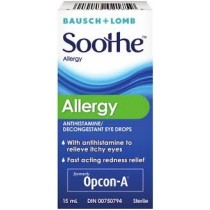 Bausch & Lomb Soothe Allergy Anti-Histamine / Decongestant Eye Drops