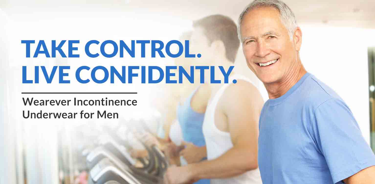 Take Control. Live Confidently. Wearever Incontinence Underwear for Men