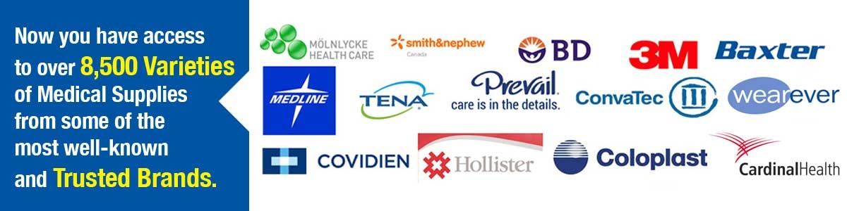 Have access to 8500 varieties of medical supplies from trusted brands